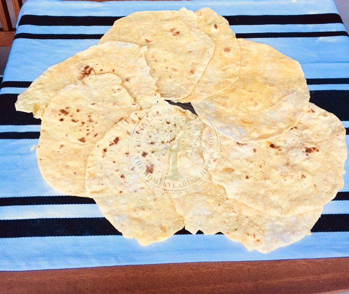 The finished tortilla